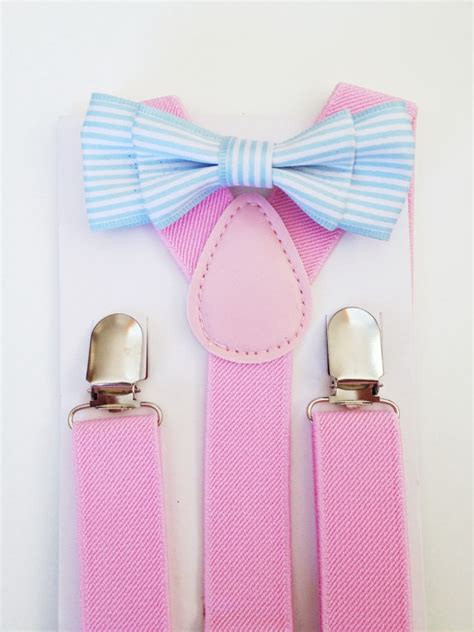 light up bow tie and suspenders suspender bow tie set light blue baby bow tie pink