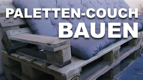 unsere eigene paletten couch youtube