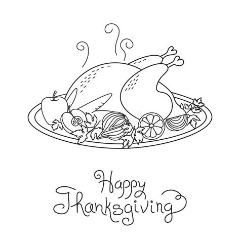doodle 4 turkey doodle thanksgiving turkey meal freehand vector stock