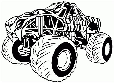 coloring pages of a monster truck free printable monster truck coloring pages for kids