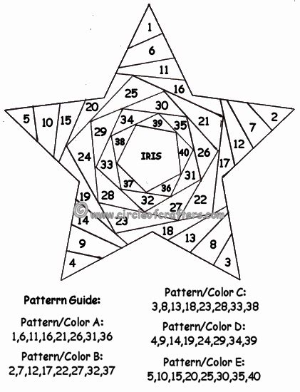 Free Paper Folding Patterns - iris folding patterns free printables