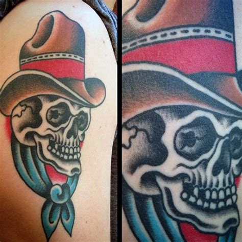 cowboy hat tattoo 90 cowboy tattoos for west designs