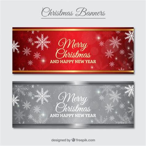 merry christmas banner pack vector