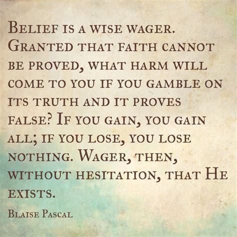 christian wager blaise pascal quotes quotesgram