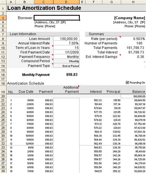 loan amortization spreadsheet loan amortization schedule and calculator