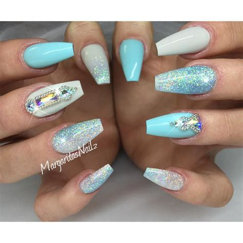 Herbst Nägel 2016 by Pastel Blue Coffin Nails Summer 2016 Nail Glitter
