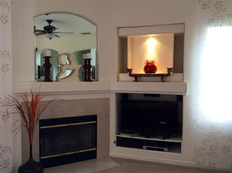 Next Fireplace by Fireplace Next To Tv Niche