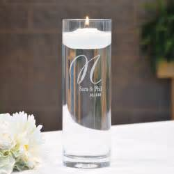 personalized glass vase floating unity candle