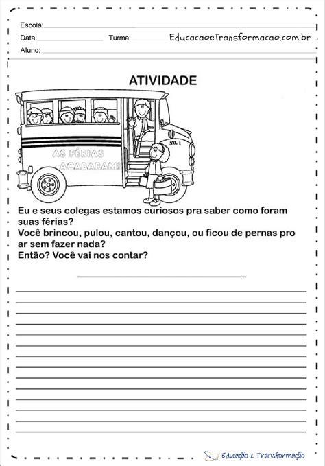 Atividades Volta às Aulas para imprimir - Educação e