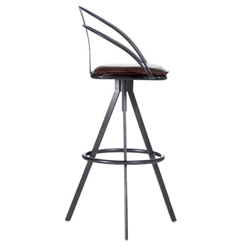industries leather bar stool blackthorne industrial loft adjustable height leather bar
