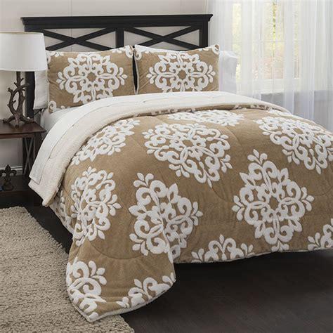 damask bedding set damask jacquard sherpa comforter set home bed bath