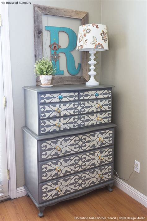 Stencil Dresser by Style Your Dresser With Stencils