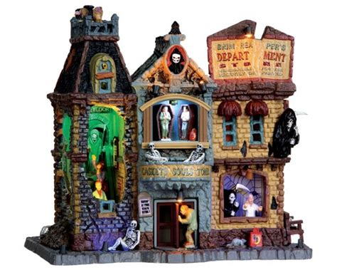 lemax spooky town grim reaper s department store with