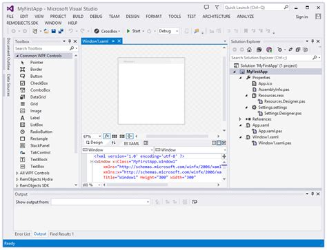 visual basic xaml tutorial your first windows wpf app with elements