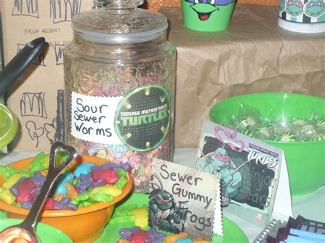 fun candy buffet for tmnt party teenage mutant ninja