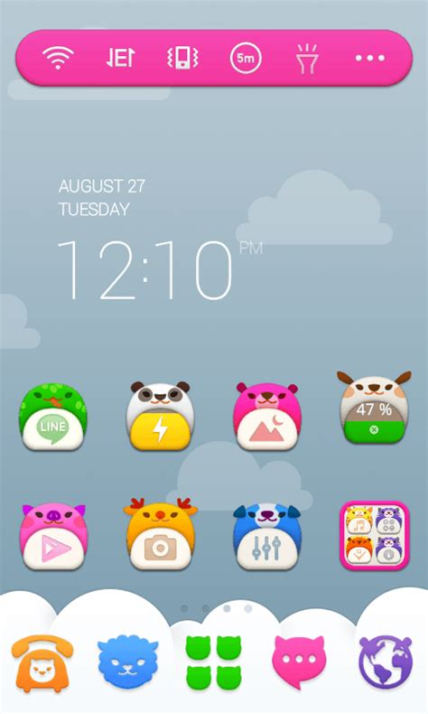 theme line android baby pooh baby zoo line launcher theme android apps on google play