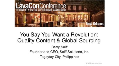You Say You Want A Revolution by You Say You Want A Revolution Quality Content Global