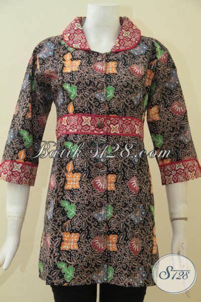 desain baju batik unik jual pakaian batik lengan tiga perempat busana batik