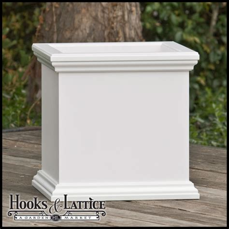 composite pvc planter box square planter box rot proof