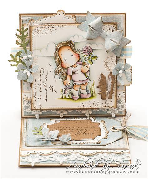 handmade by tamara magnolia easel card