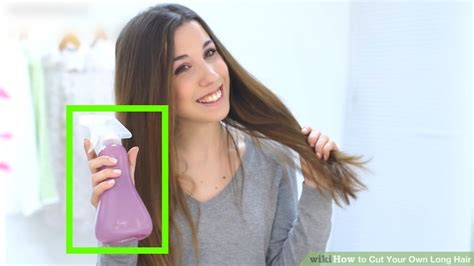 divide short hair for trimming 9 ways to cut your own long hair wikihow