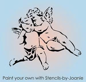 Shabby Chic French Furniture by Joanie Design Stencil 5 Quot Angel Cherubs Heavenly Valentine
