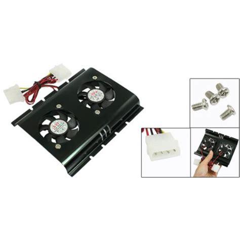 Fan Hardisk 2 Fan gtfs sale practical black 3 5 sata ide disk drive hdd 2 fan cooler for pc in fans