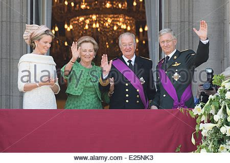 crown prince philippe and queen paola of belgium arrive