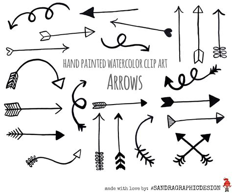 free doodle arrow vector arrow clip quot black arrows quot painted black