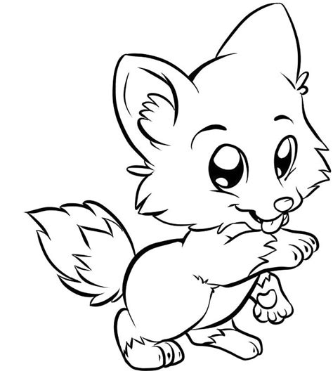 Coloring Page Fox by A Fox Coloring Pages Cricut Ideas