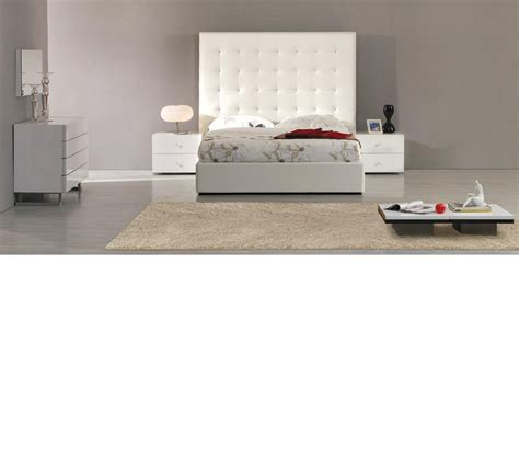 white leather bed high headboard dreamfurniture lyrica white leather headboard bed