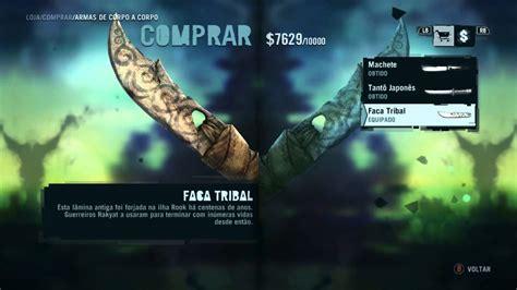como conseguir a faca tribal e a tatuagem no bra 231 o direito
