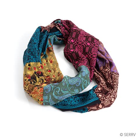 Patchwork Scarf - scarves patchwork infinity scarf
