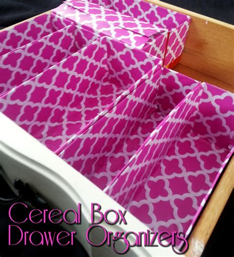 Cereal Box Drawer Organizer by Cereal Box Drawer Organizers Swankyluv