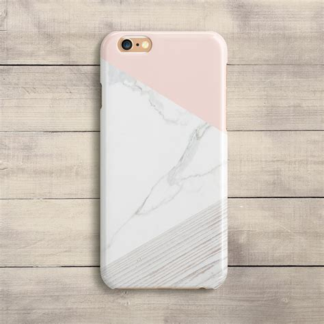 geometric pink marble iphone 8 plus iphone 8 xs max etsy