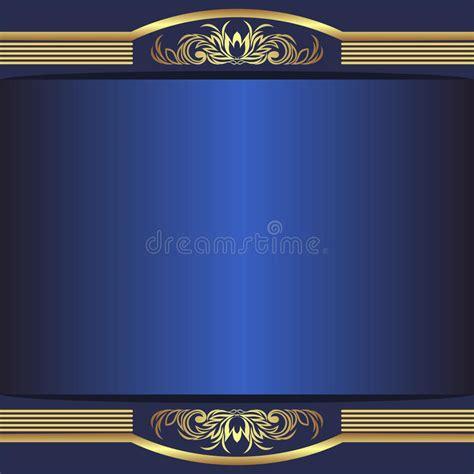 luxury blue background  elegant golden borders