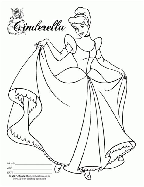 get this free cinderella coloring pages 6986