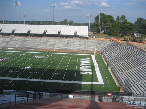 section 8 troy al troy memorial stadium section 220 rateyourseats com