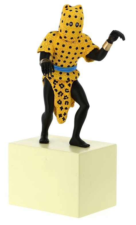 leopard 6 litre statuette l homme l 233 opard tintin boutique