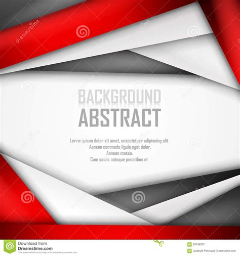 abstract background of red white and black stock vector