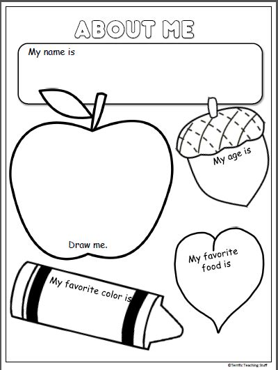 preschool coloring pages all about me about me activity for fall madebyteachers