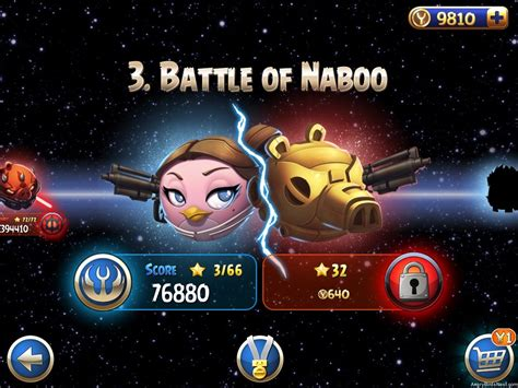 angry birds star wars 2 update angry birds star wars ii battle of naboo update now