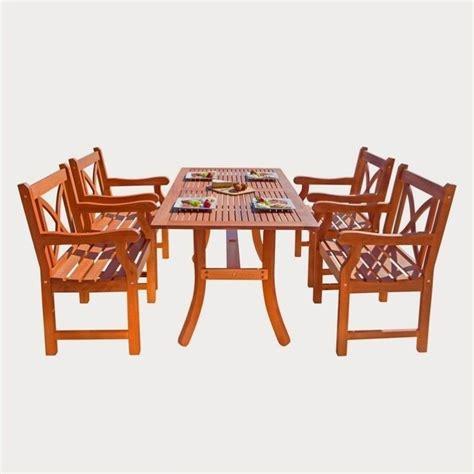 Wooden Patio Dining Sets 5 Wood Patio Dining Set V189set6