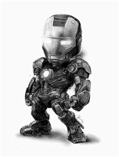imagenes de iron man blanco y negro iron man chibi ilustra