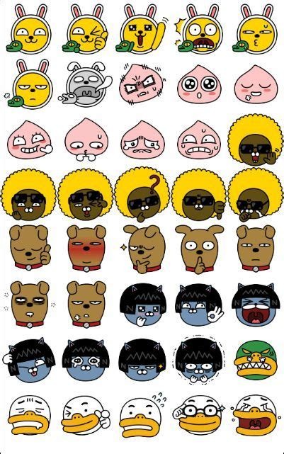 Wallpaper Sticker 33 혹시 카카오 프렌즈 表情 characters character design and doodles