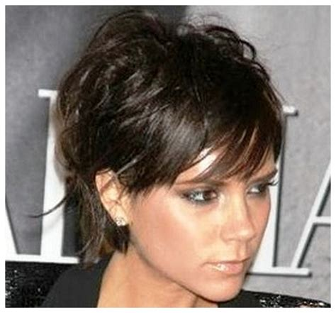 short hair long bangs tucked behind ear gorgeous short hairstyles back view only at cheap article