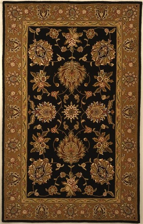 black and yellow area rugs traditions black yellow area rug td606b 6 x 6 traditional area rugs by zopalo
