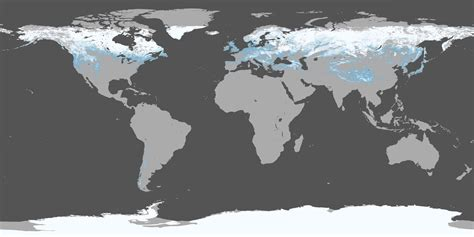 Snow Cover Map World | world snow cover map roundtripticket me