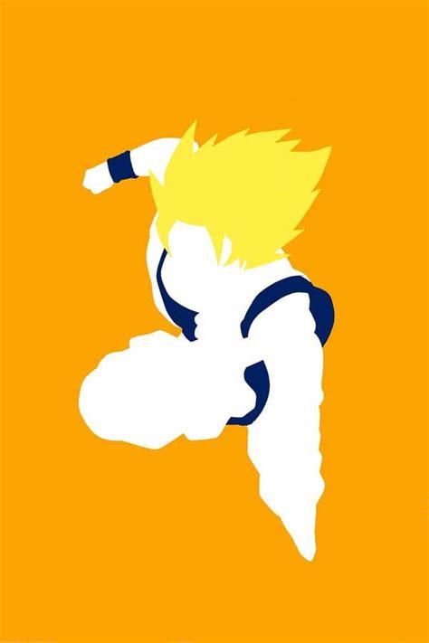 super minimalist super saiyan goku ドラゴンボール pinterest simple the o