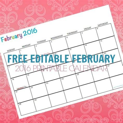 printable planner february 2016 free printable calendar february 2016